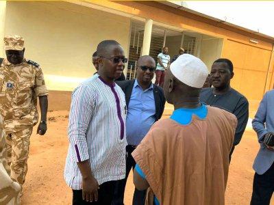 le Directeur Général de l'ONASER M. Adama KOURAOGO visite les différents postes de pesage-11